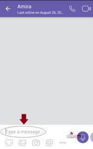 ارسال رسائل في تطبيق فايبر