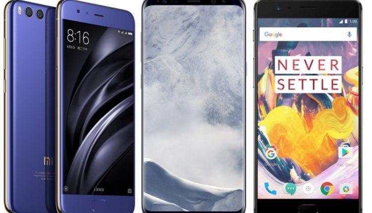 مقارنة سريعة بين Samsung S8 و Xiaomi Mi6 و OnePlus 3T , من الأفضل ؟