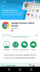 تطبيق جوجل كروم للاندرويد