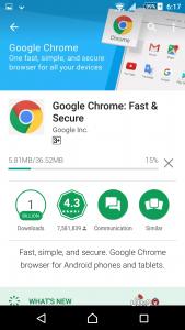 انتظر انتهاء تحميل جوجل كروم