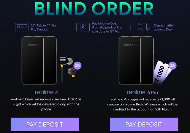 Realme 6 Series Blind Order